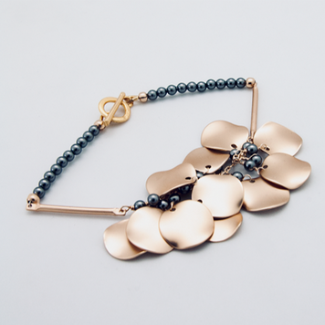 Ripple Cluster Bracelet Grey