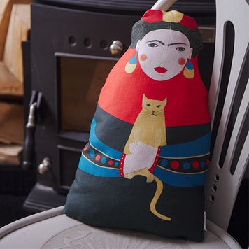 Frida doll shaped cushion