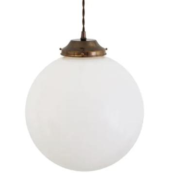 Gentry Opal Globe Pendant Light 30cm