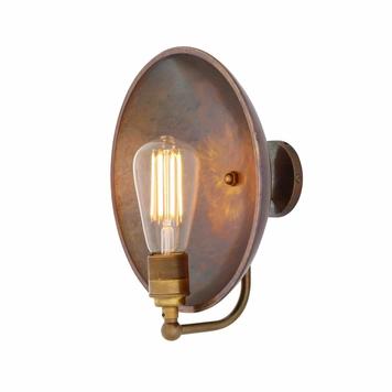 Cullen Industrial Dish Wall Light
