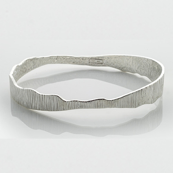 Sterling Silver Irish Designer Bangle - Shell Collection