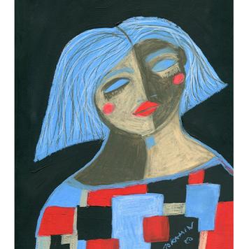 """Lulu Had a Dream"" original painting"