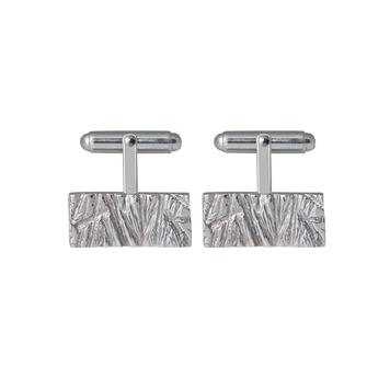Rugged Cufflinks in sterling silver