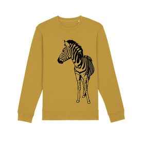 Adult Zebra Sweatshirt Ochre