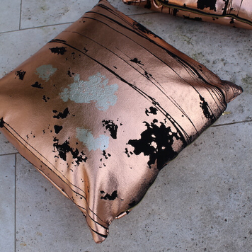 Copper Gilded Cushion