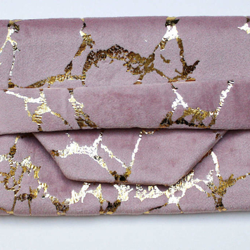 Blush & Gold Crackle Pouch