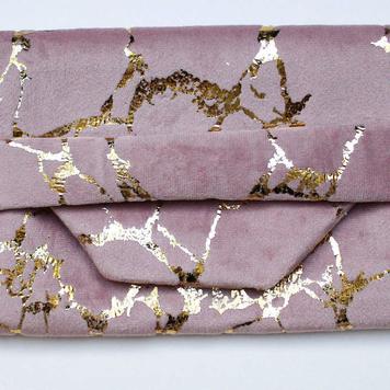 Blush & Gold Crackle Pouch