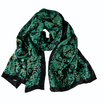 'James' Copper Verdigris & Peat Brown Scarf