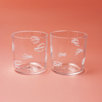 Murrine glasses (pair)