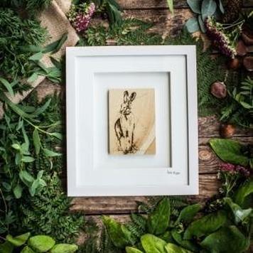 The Native Collection framed Hare (An Giorria Eireannach)