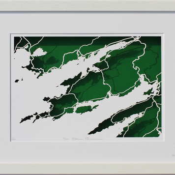 Beara peninsula papercut map