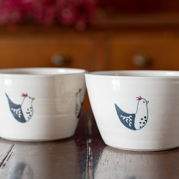 French Hen Cereal Bowl