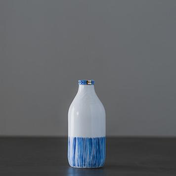 Medium Striped Milk Bottle