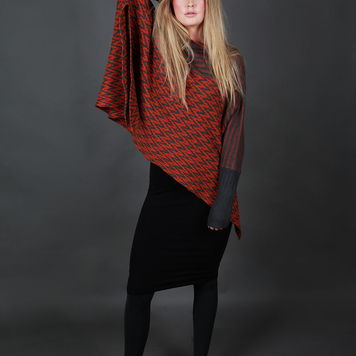 Herringbone Draped Jumper