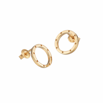 I Am Dreaming Tiny Stud Earrings In Gold