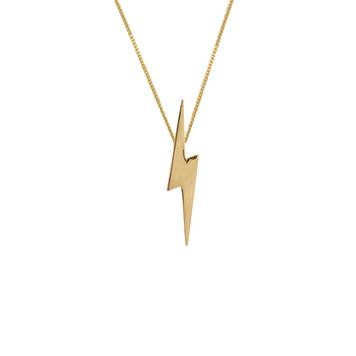 Pointed Lightning Bolt Pendant