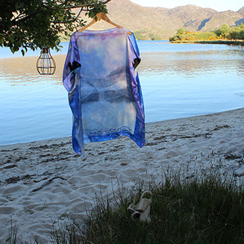 Skellig silk print dress
