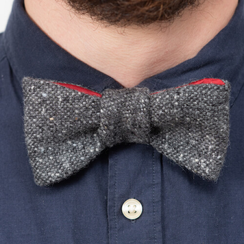Charcoal Donegal Tweed Bow Tie