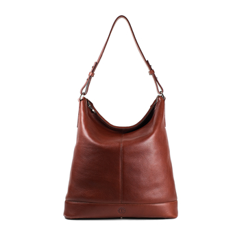 Orla Large Zip-Top Shoulder Bag - Chestnut