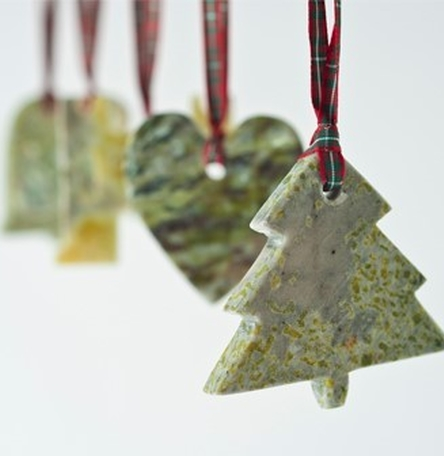 Selection of Connemara Marble Christmas Ornaments