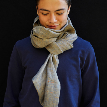 Irish Double Long Linen Scarf