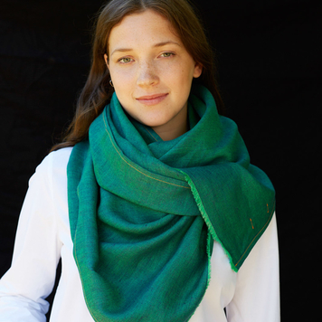 Electric Green Irish Linen Scarf