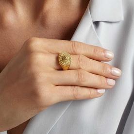 Rope Medallion Ring