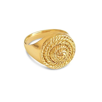 Rope Medallion Ring