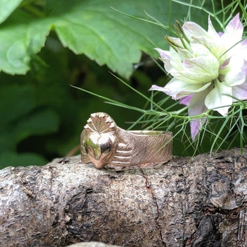 Rustic Claddagh Ring