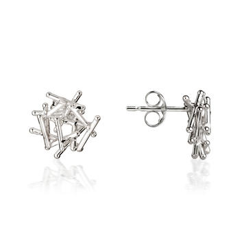 Magnetic Silver Stud Earrings