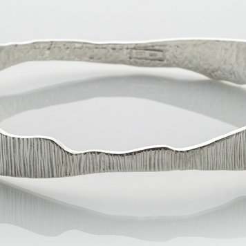Sterling Silver Irish Designer Bangle - Shell Collection