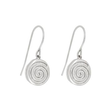 Energy Silver Spiral Gold Earrings