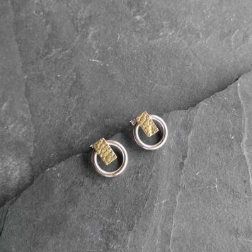 Gold Lace Circle Studs