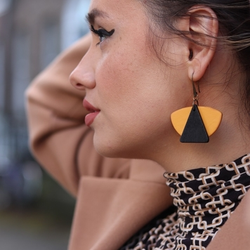 The Yellow Fan Earrings