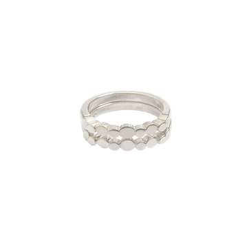 Sterling silver 'pebble' ring