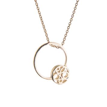 Gold flow pendant