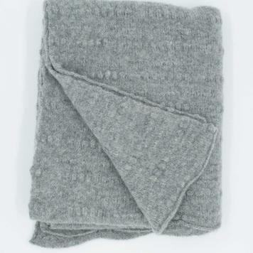 Grey Slub Scarf