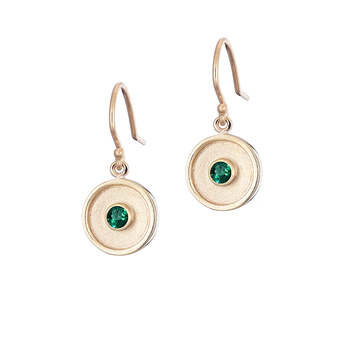 Emerald Drop Amulet Earrings