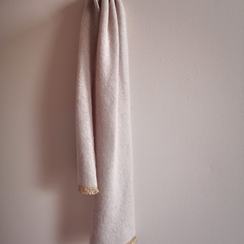'Gold Tipped' Cashmere Kitten Scarf