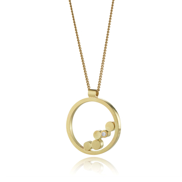 Stepping Stones Gold Pendant
