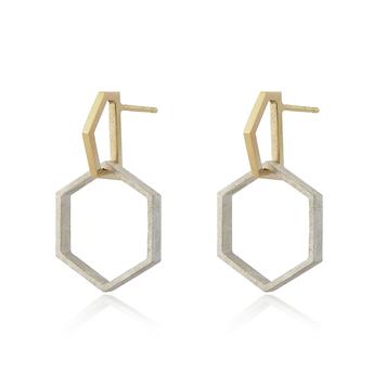 Hexagon Drop Earrings