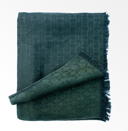 Wicklow Mountains - Woven Silk and Linen Shawl