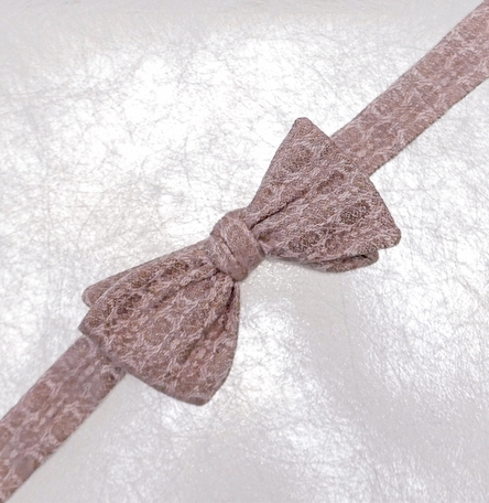 Rosewater- Self-tie Woven Silk and Linen Bow Tie