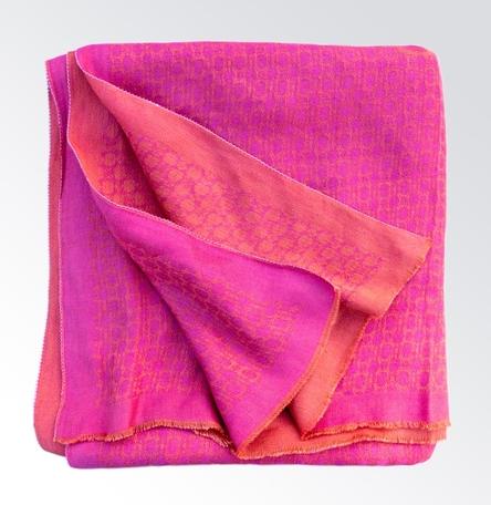Pink Grapefruit No. 2 - Featherweight Blanket Shawl