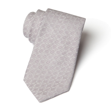 Silver Shore - Silk and Linen Woven Necktie