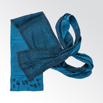 Deep Teal - Featherweight Silk and Linen Scarf