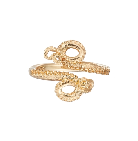 Octopus ring gold plated