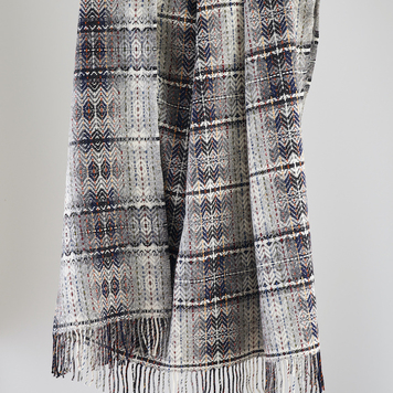 Grey Diamond Weave Throw