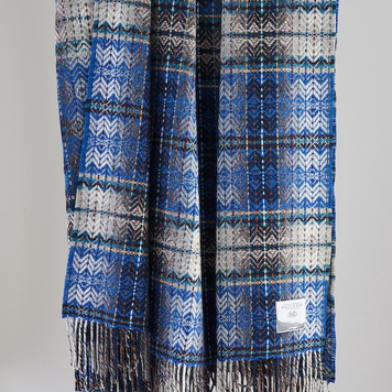 Blue Diamond Weave Throw