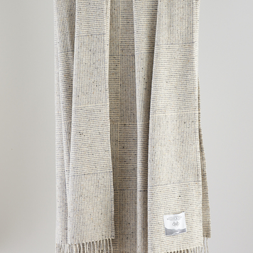 Grey Basket Weave Throw